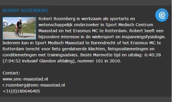 Sportarts Robert Rozenberg