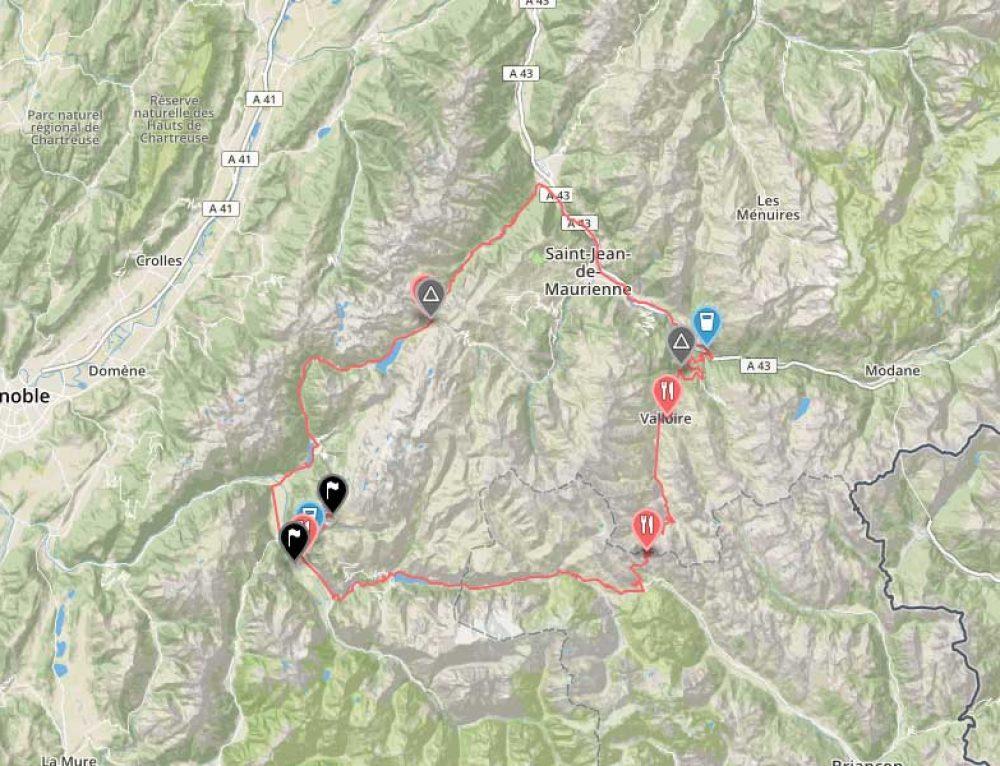 Marmotte 2017 route