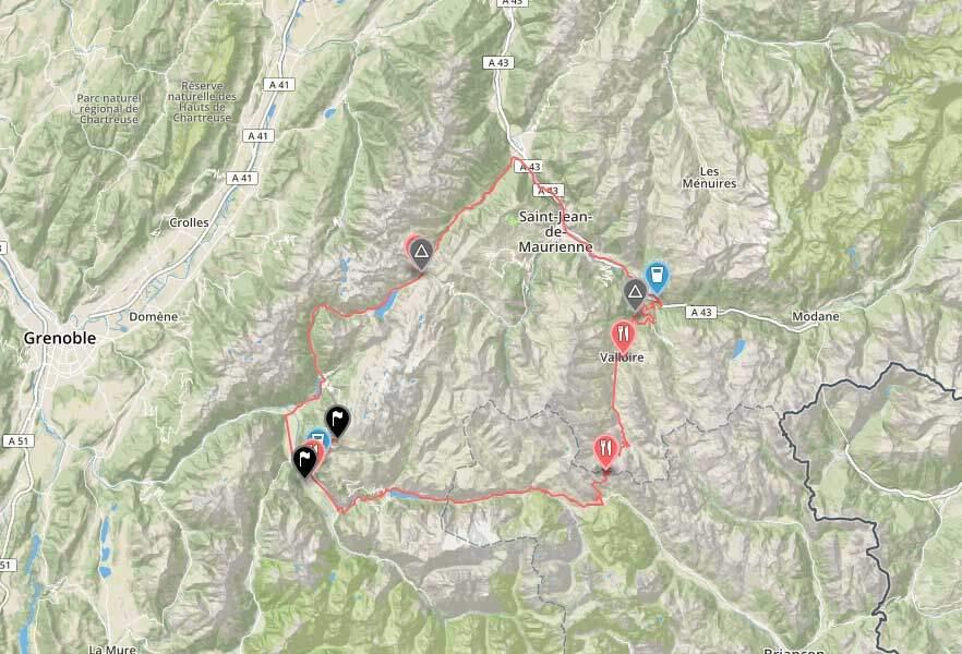 Marmotte route 2019 Alpen